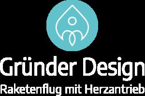 Logo Gründer Design – Raketenflug mit Herzantrieb